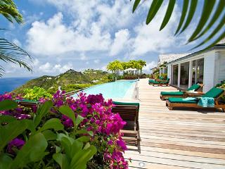 Perched atop the hill in Colombier- exquisite views of the whole island. WV BWH