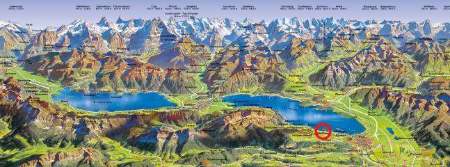 Oberhofen der perfekte Ausgangspunkt um das Berner Oberland zu erkunden.