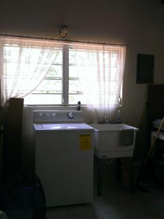 Laundry Room washing machine and dryer.