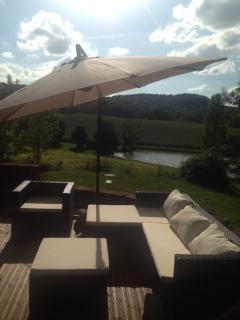 Veranda with new outdoor furniture