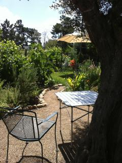 Pick the sun or a shady spot under the olive tree for breakfast
