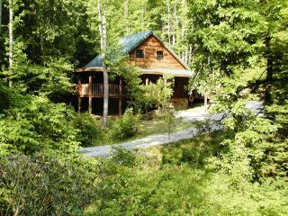 Private Cabin, on creek, in Tennessee Mountains, Tellico Plains