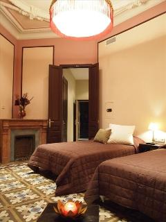 Bedroom 1, or Pink Suite