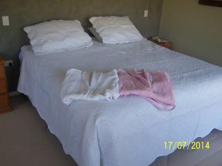 Comfy king size bed and fresh cotton robes