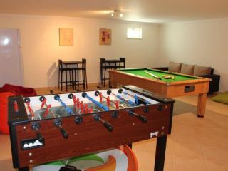 Downstairs games area