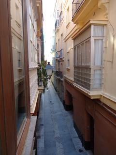 Vistas de la Calle desde la Terraza.