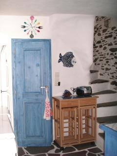Kitchen room - 3. The door belongs to the small WC. The stairs lead to the living room.