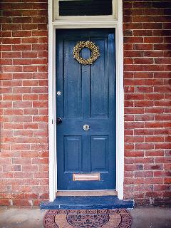 Origianl door with bell and mail slot