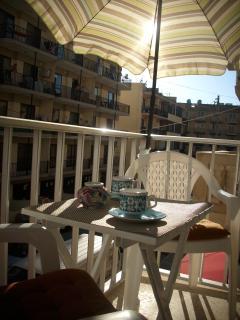 Very sunny belcony