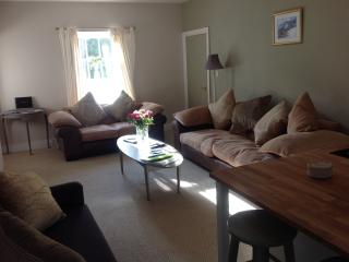 Main living area with kitchen, breakfast bar and extensive lounge area (4 seater/2 seater/sofa bed)