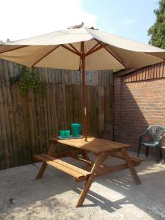 Rear Patio and BBQ Area