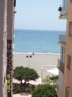 SIDE view of the Mediterranean and La Rada Beach taken sideways from the balcony.