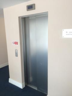Elevator to the apartment on the third floor