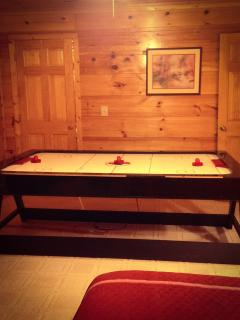 air hockey table in 2nd bedroom/gameroom