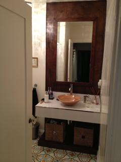 a view of the Bathroom on first floor, this one has shower