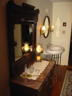 Antiques and Additional Bedroom Sink