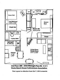Floor Plan with new Ensuite Bathroom and new Kitchen.