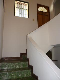 Stairway to the second floor.