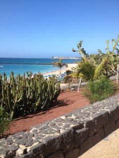 The promenade walk along playa Dorada