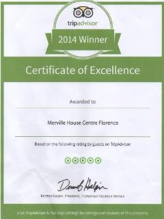 The apartment was awarded by Tripadvisor with the Certificate of Excellence 2014