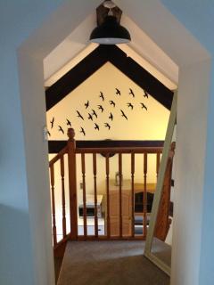 The mezzanine balcony from the bedroom