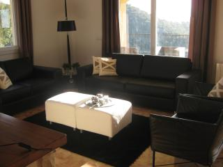 The cosy living room with satellite TV