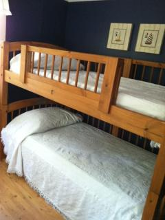 BR#3, with bunked singles.  Kids love em and a guard rail for extra security for little ones.