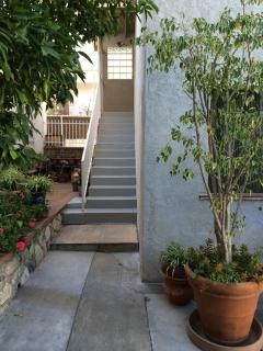 Private stairway entrance
