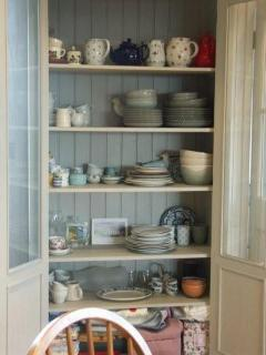 Crockery cupboard in dining room
