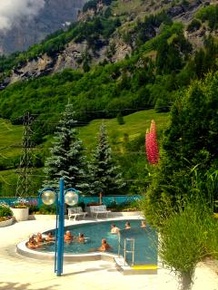 Leukerbad Thermal Baths (Summer) just 3 minutes' walk away