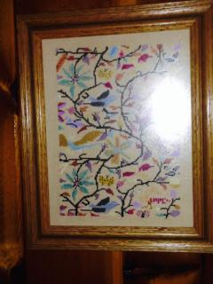 My mother made this beautiful framed needlework.