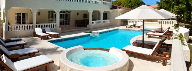 sample of private pool and seating at a villa
