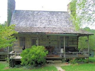 Original log cabin with one upstairs bedroom, fireplace, kitchen, Earlysville