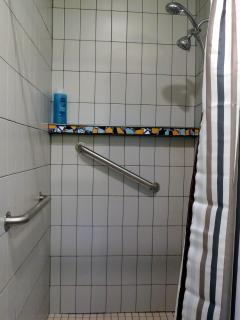 Accommodating shower