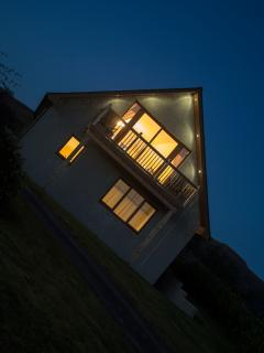 Lochview Chalet at Night