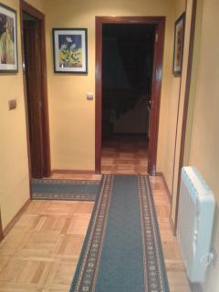 Pasillo de entrada hacia el salón