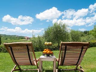 The splendid view over the Umbria countryside
