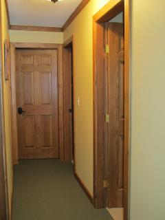 Solid timber doors throughout