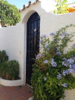 The garden entrance