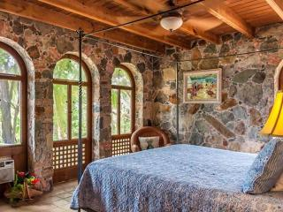 Master bedroom with view of harbor