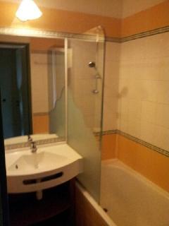 Salle de bain avec toilettes.