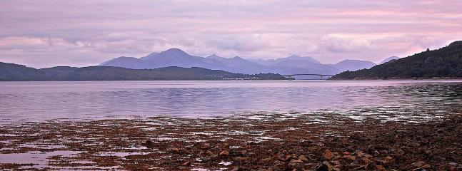 View over Lochalsh towards Skye.