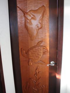 Custom designed hardwood doors