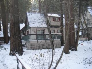 Cabin in winter time.