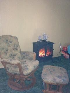 Living room with heater