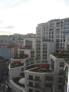 Living room view... A so called 7 star hotel and Cihangir quartier...