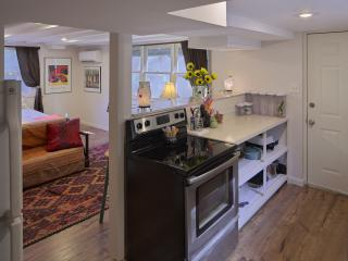 A full kitchen is included so you wont be sharing any common areas with the upstairs unit.