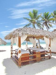 Massage Hut on our private beach - package of 6 is only $250.