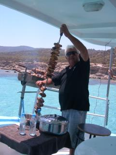 Most boat trips offer lunch. This Blue Lagoon trip hosts a boat BBQ. The smells are delicious!