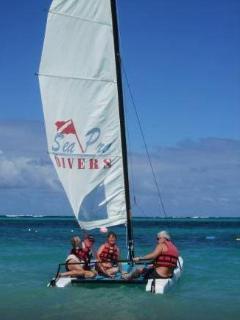 Sea Pro Divers rents these catamarans